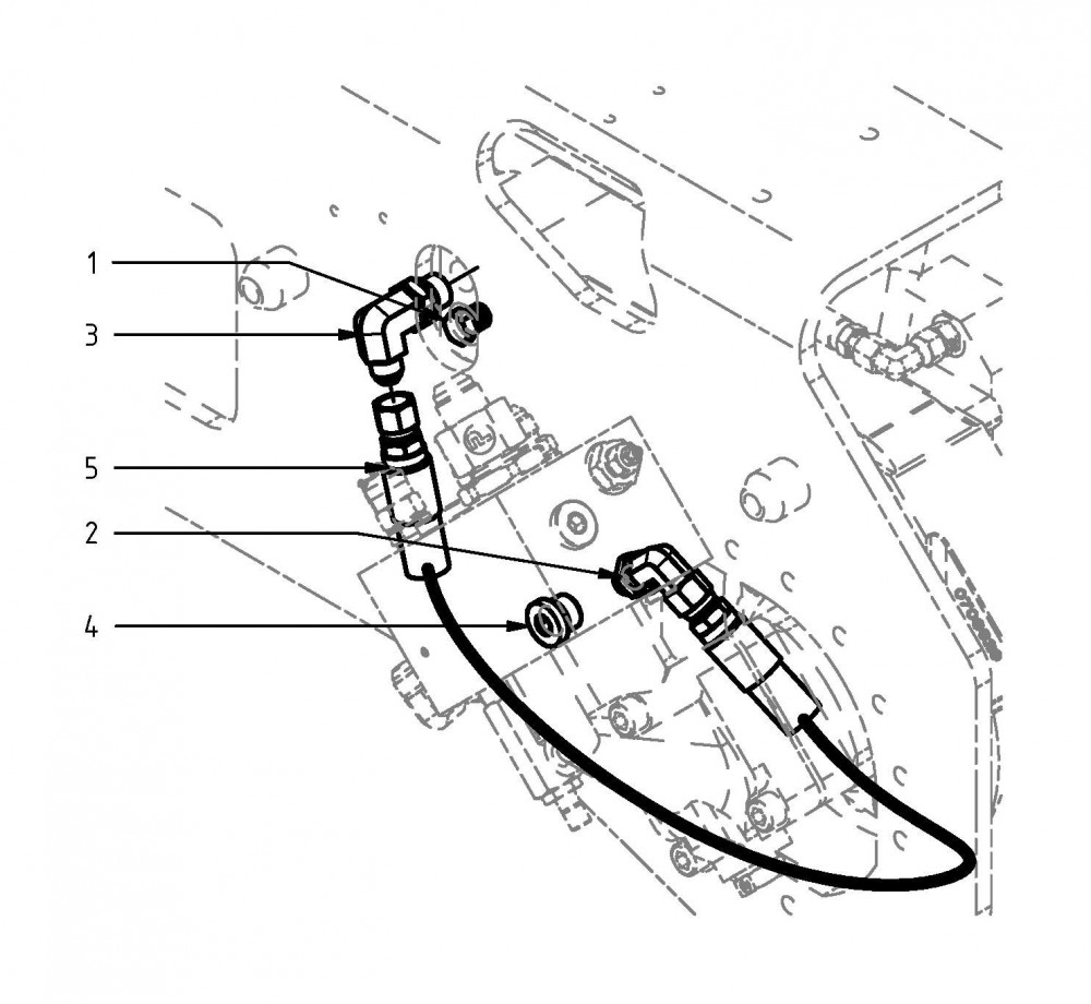 Leitung Schienenvorschub