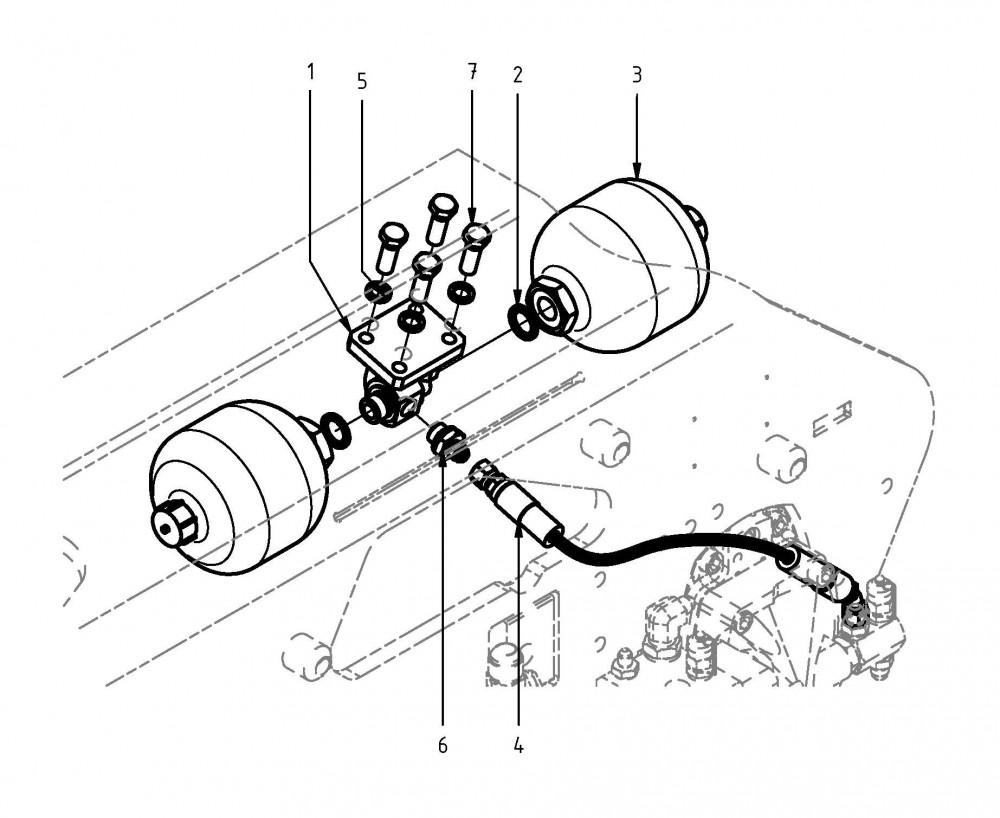 Ablaufleitung Sägemotor