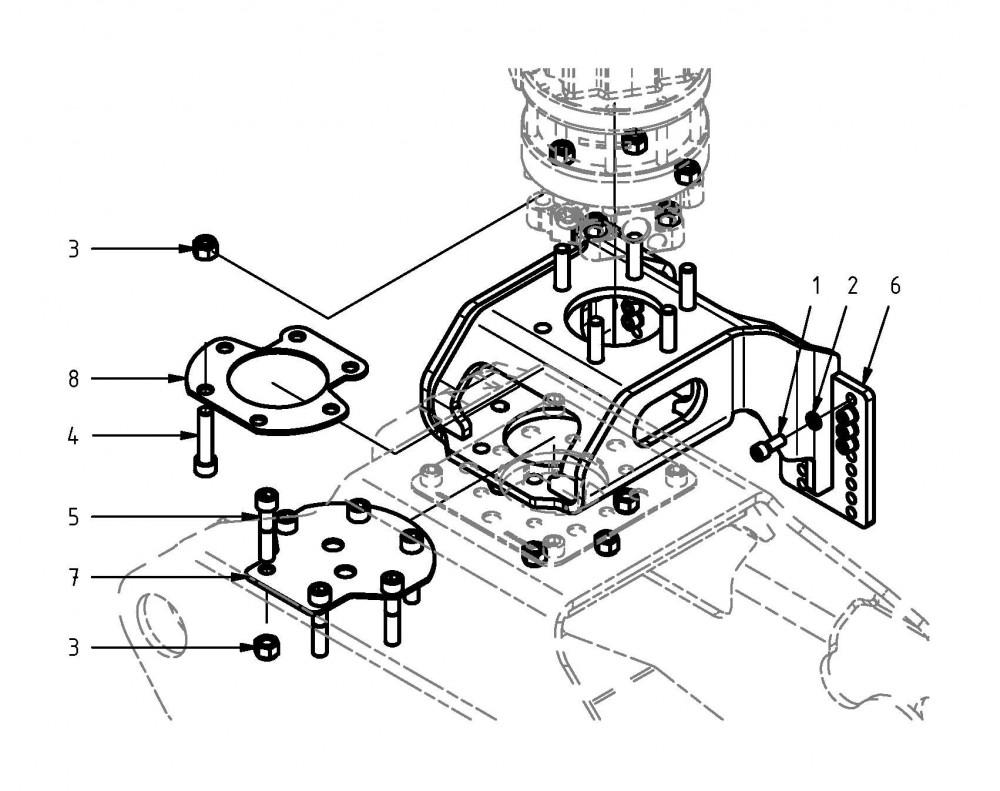 Montagesatz Rotator-Aufnahme