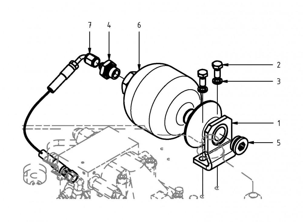 Vypouštěcí potrubí motoru pily