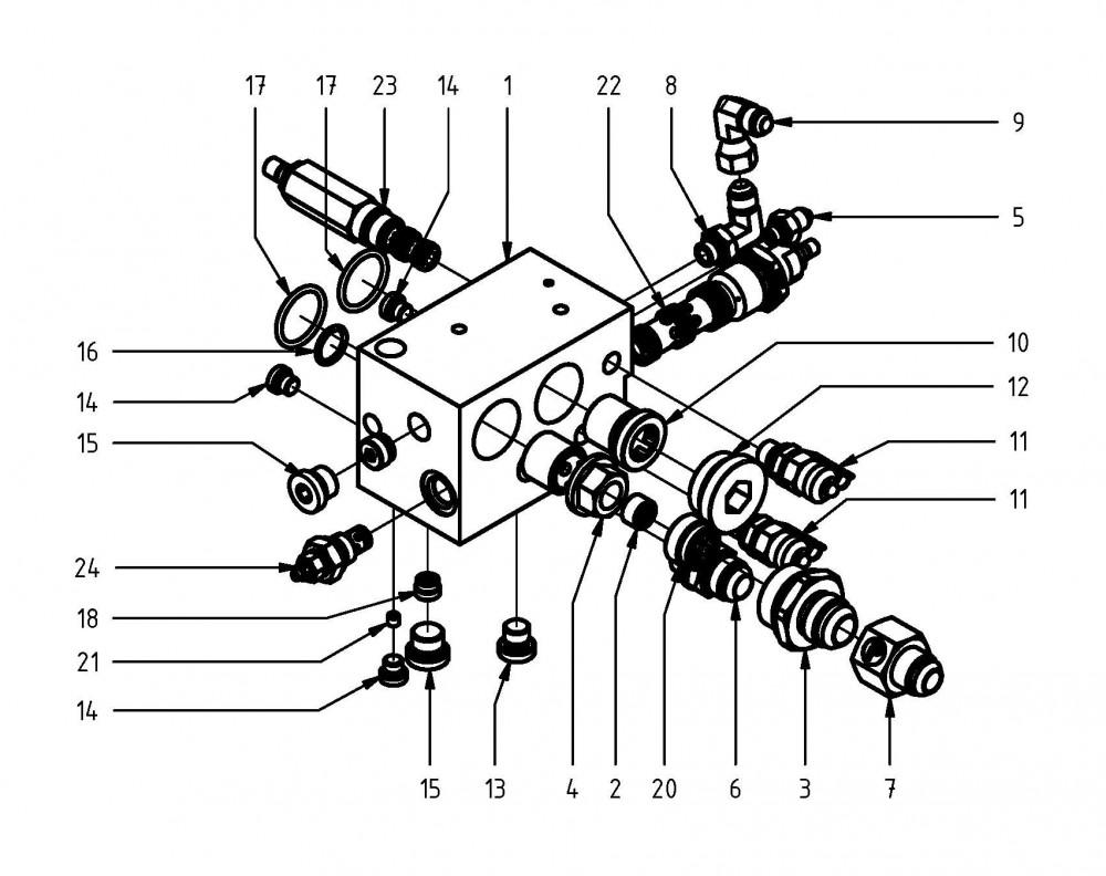 Motor pily řídicího bloku
