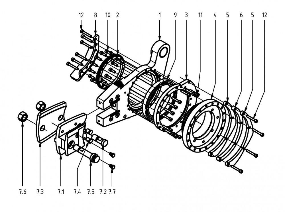 Spare parts saw unit