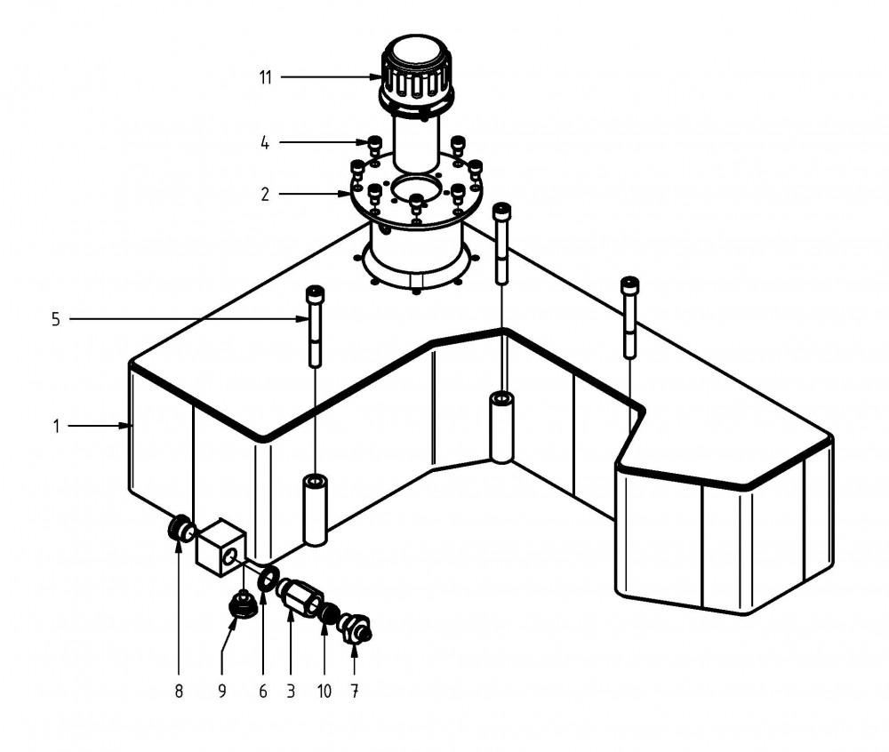 Kettenöl-Tank