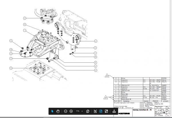 Verbindungsrahmen HD Greifer-Säge-Rotator für starke Kräne und Bagger, mit Schrauben ohne Hydraulika